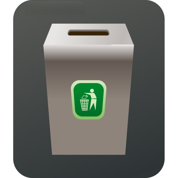 Blue Trash Can PNG Clip art