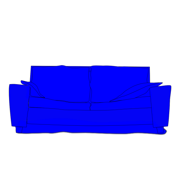 Blue Couch PNG images