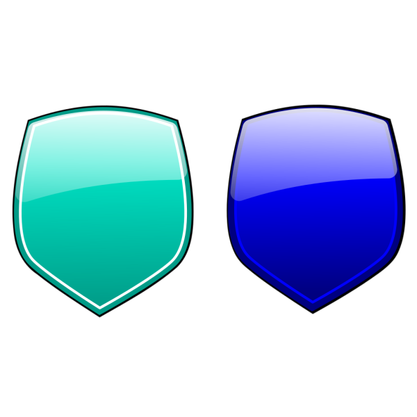 Pink Blue Glossy Shields PNG Clip art