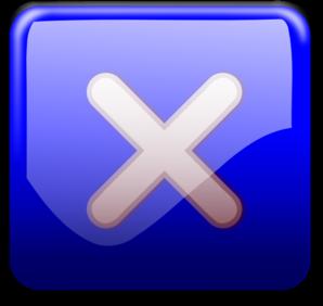Close Button Blue PNG Clip art
