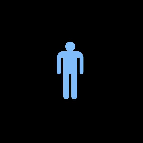 Blue Man Standing PNG Clip art