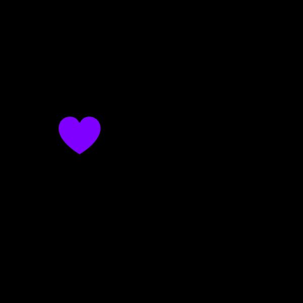 Blue Purple Hearts PNG Clip art