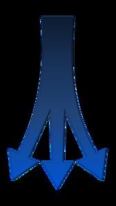 Split Arrows PNG Clip art
