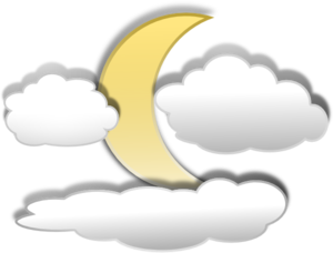 Clouds And The Moon 2 PNG Clip art