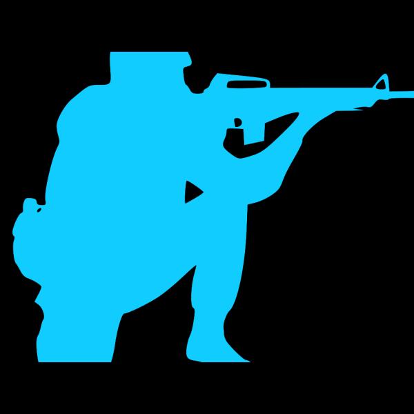 Blue Soldier PNG Clip art