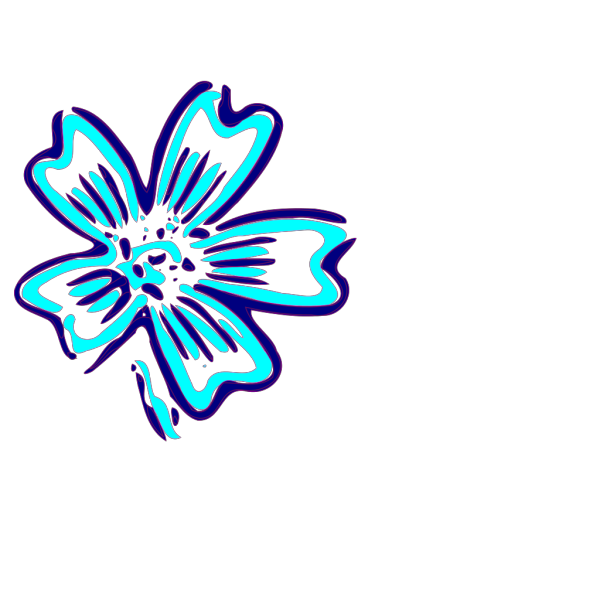 Blue Orchid   Clip Art PNG Clip art