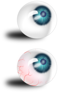 Eyeball Blue And Bloodshot PNG images