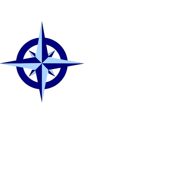 Blue Compass Rose PNG icons