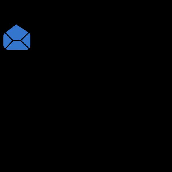Blue Envelope Open PNG Clip art