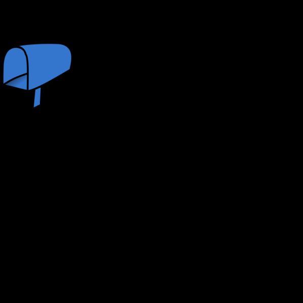 Blue Mailbox Open PNG Clip art