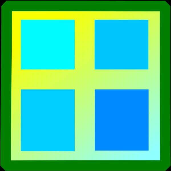 Blue Open Window PNG Clip art