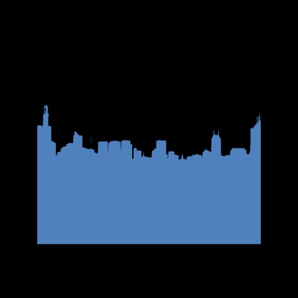 Blue Skyline PNG Clip art