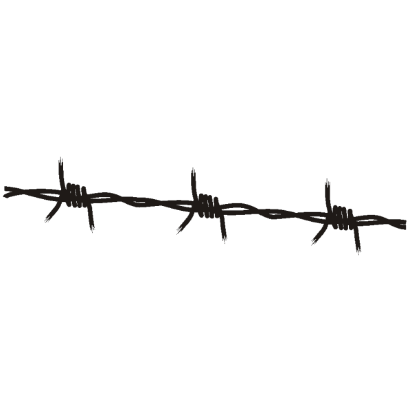 Barbed Wire Blue PNG Clip art