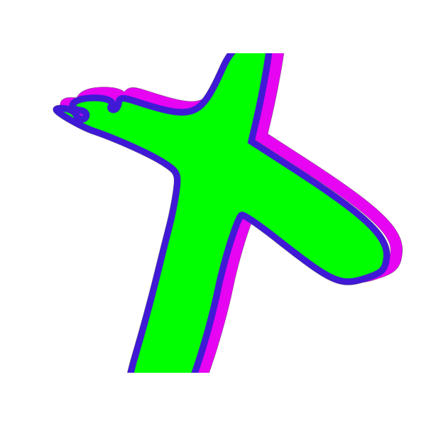 Cross-green Blue Magenta PNG Clip art