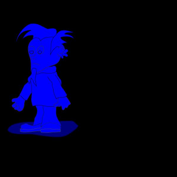 Blue Elf Dude PNG Clip art
