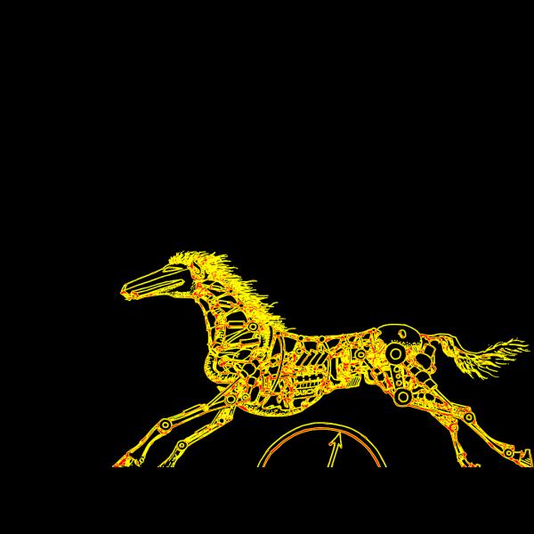 Yellow Horse PNG Clip art