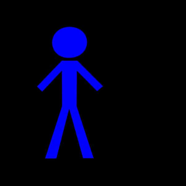 Stick Man Blue 2 PNG Clip art