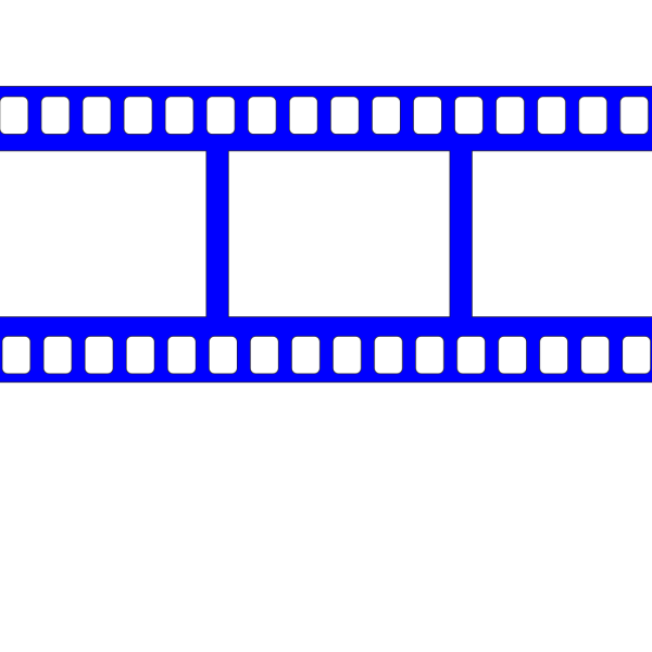 Blue Film Strip PNG clipart