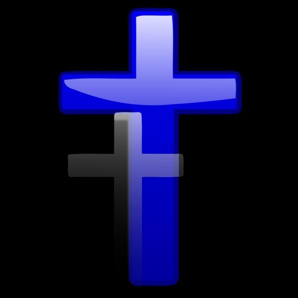 Blue Gradient Cross PNG Clip art