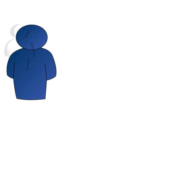Person Buddy Symbol Blue Gradient PNG Clip art