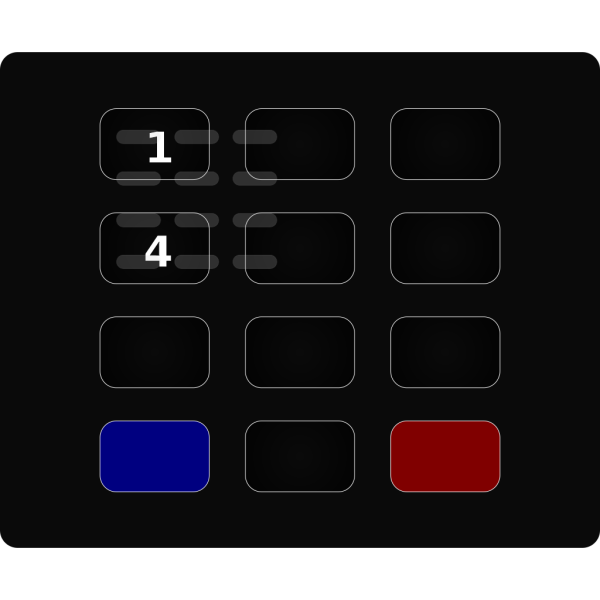 Glossy Black Keypad PNG Clip art