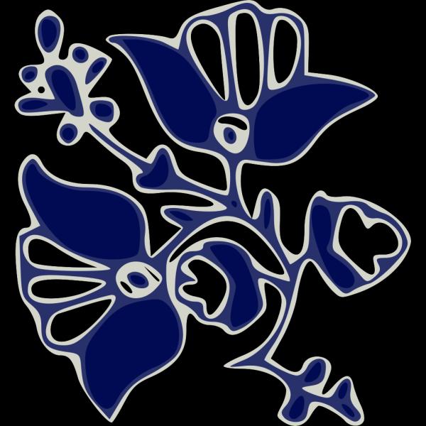 Blue Flower Pattern PNG Clip art