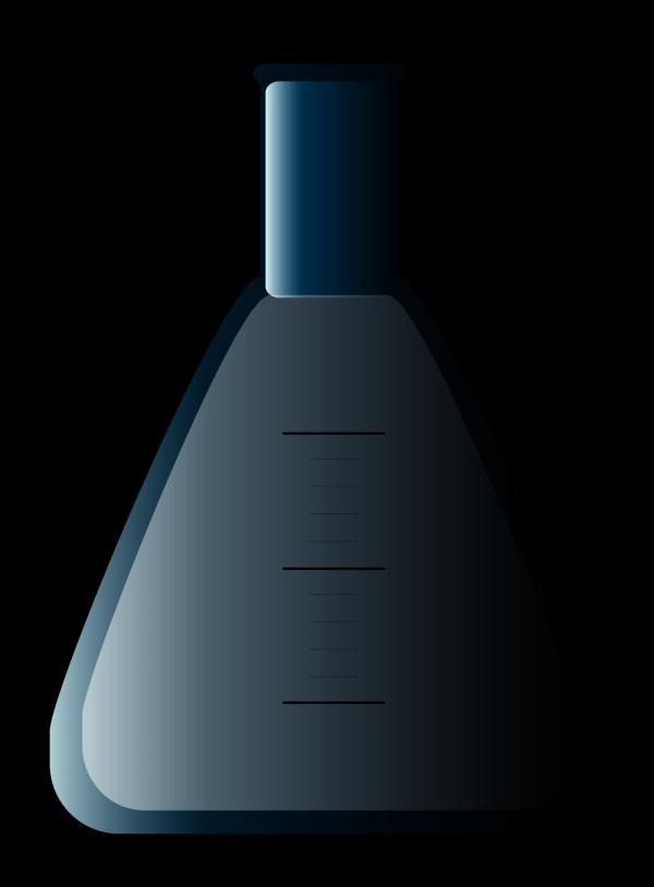 Blue Flask PNG Clip art