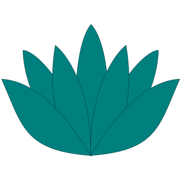 Aqua Lotus Flower PNG Clip art