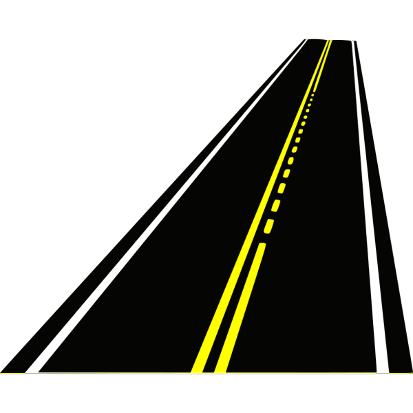 Road With Passing Zone & Cars PNG Clip art
