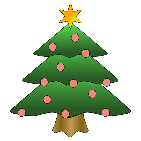 Decorated Christmas Tree With Snow PNG Clip art