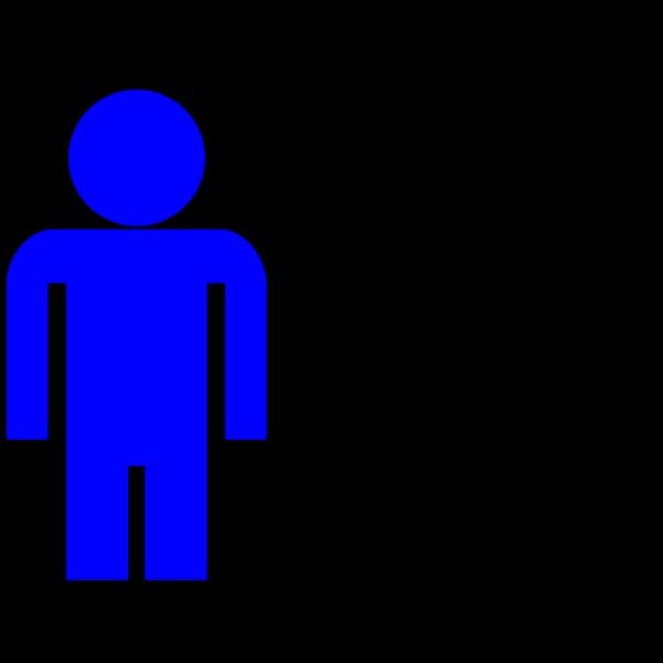 Blue Man Figure PNG Clip art