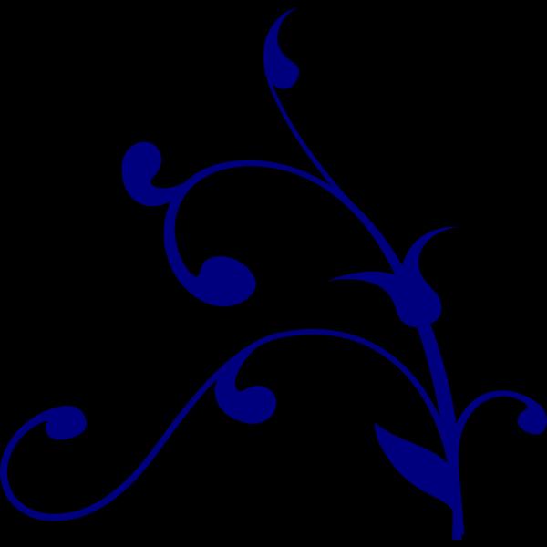 Blue Vine PNG clipart