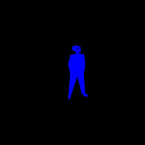Blue Man Silohouette Hans In Pockets PNG Clip art