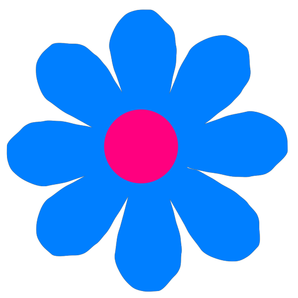Blue Flower PNG icons