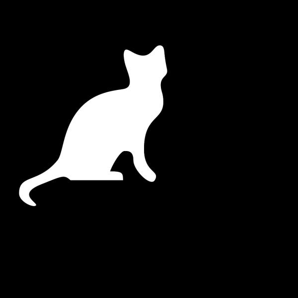 Cat Silhouette 2 PNG Clip art