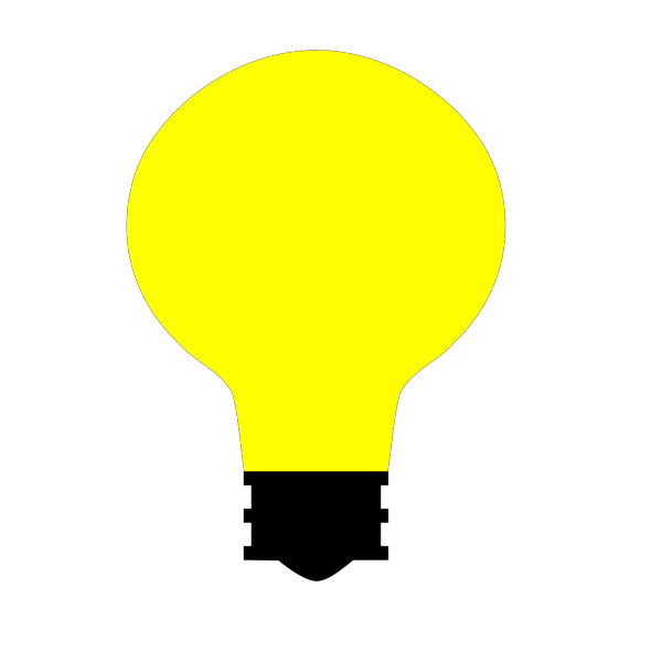 Simple Light Bulb PNG Clip art