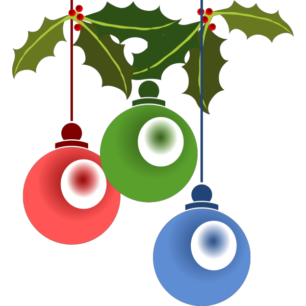 Red And Blue Decoration PNG Clip art