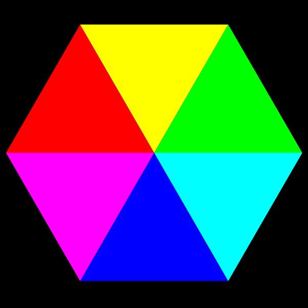 Color Hexagon PNG Clip art