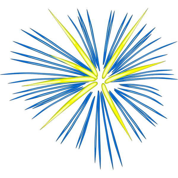 Blue Fireworks PNG icons