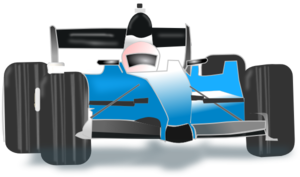 Blue Race Car PNG Clip art