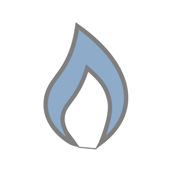 New Flame As Square PNG Clip art