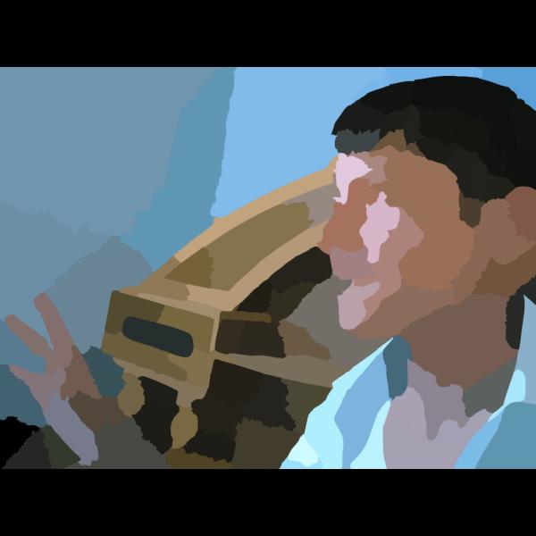 Rounded Light Blue Upload Image Square PNG Clip art