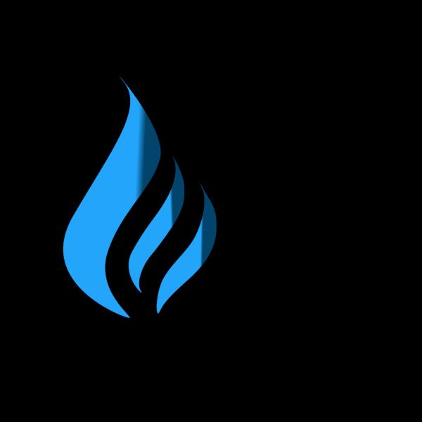 Blue Flame6 PNG Clip art