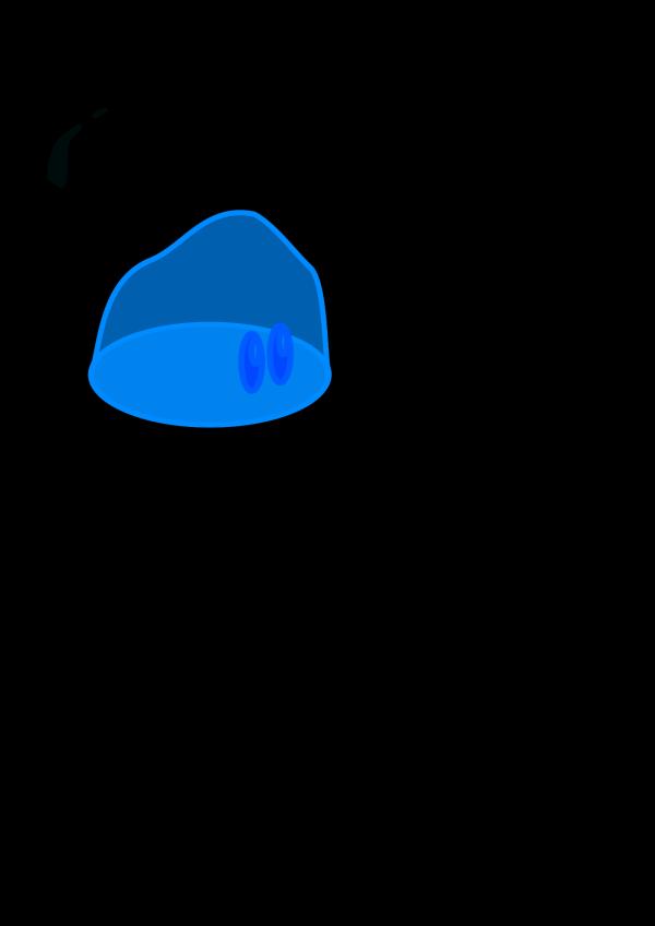 Blue Blue Napkin PNG clipart