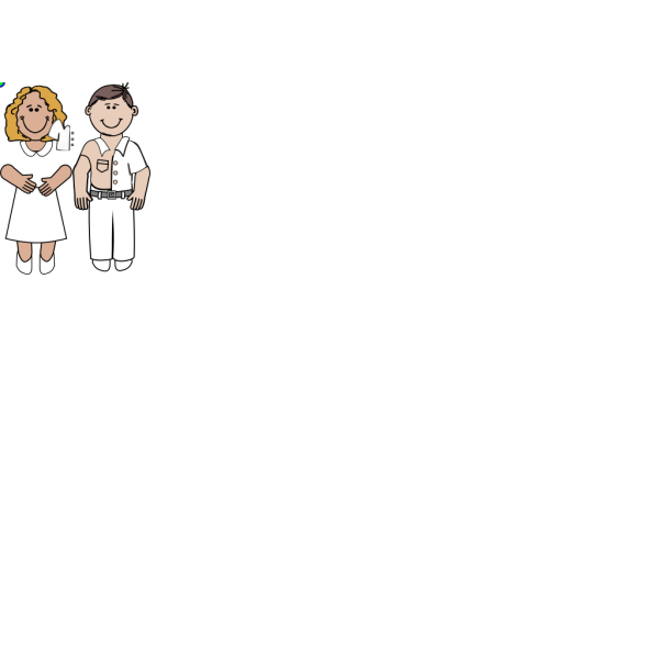 Man And Woman - Colors PNG Clip art