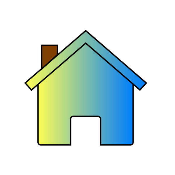 Yellow Blue Fade House 2 PNG Clip art