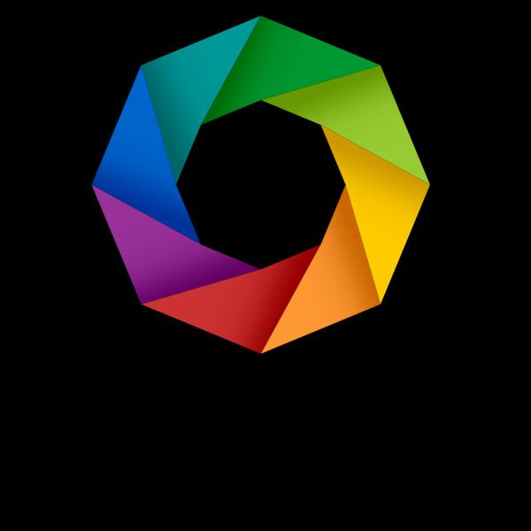 Rainbow Octagon PNG Clip art