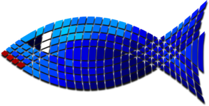 Tiled Blue Fish PNG Clip art