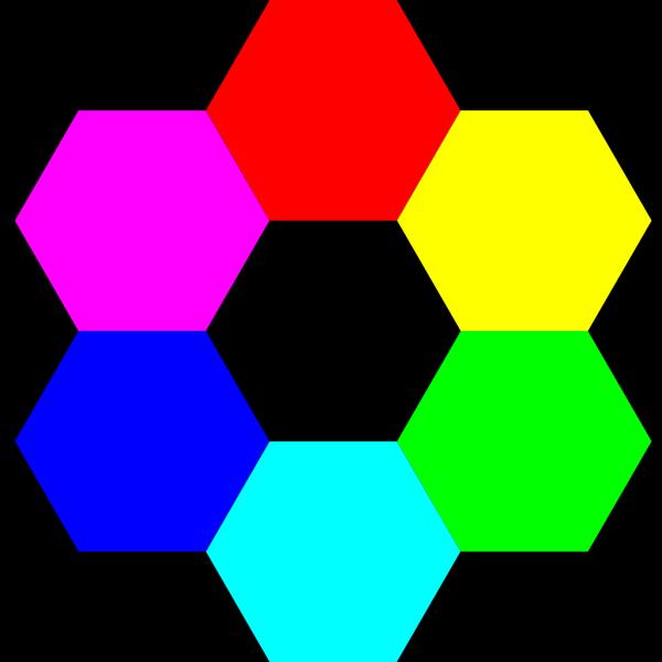Rainbow Hexagons PNG Clip art