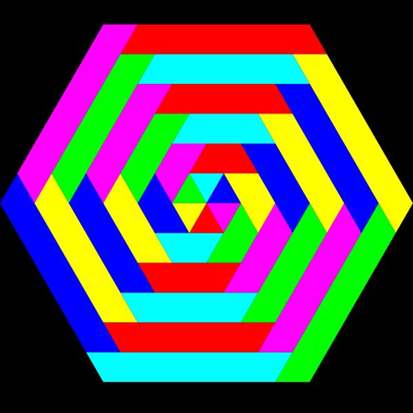 Hexagon Rainbow Colors PNG Clip art